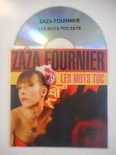 ZAZA FOURNIER : LES MOTS TOC [ CD SINGLE PORT GRATUIT ]