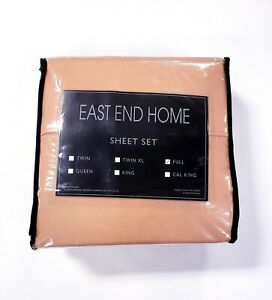East End Home Full Size 4 Piece Soft Microfiber Sheet Set Hazelnut Brown