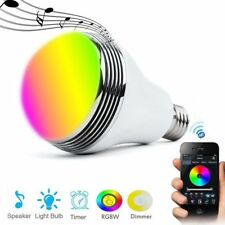 E27 Lamp Smart LED Light Bulb Bluetooth Control RGB Colour Music Speaker Timer