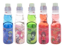 Naruto Ramune Variety 5 Pack Japanese Soda Marble Soft Drink (5 Flavors)