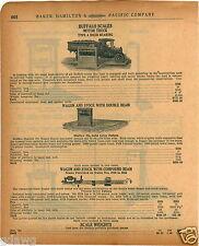 1920 PAPER AD Buffalo Motor Truck Wagon Farm Stock Scale Pork Portable Warehouse