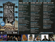 2017 Chicago Blues Festival 2 Sided Color Flyer with Line-up,Schedule, and Map