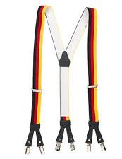 Hosenträger 6 Clips Deutschland Braces Suspender Halter für Hosen und Jeans