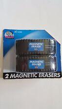 2 Metal Dry Board Eraser w/Magnetic Refrigerator Locker NEW