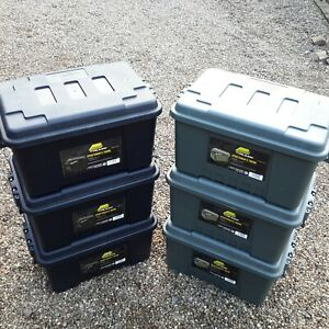 3 PACK PLANO SMALL STORAGE BOX STACKABLE TRANSPORT BOX CAMPING LEISURE BOX
