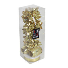 Christmas 13 Piece Gift Pack of Bows & Ribbons - Gold