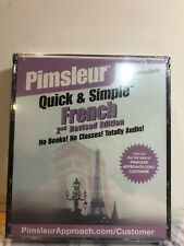 Pimsleur Quick & Simple French Brand New (2nd Revised Edition) Audio Cd