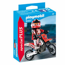 9357 Playmobil Motocross Driver otros conveniente para las edades 4 yearsand Up