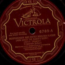 """FRIEDRICH SCHORR -BARITONE- """"Meistersinger"""" Was duftet doch der Flieder  G3071"""
