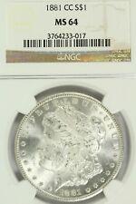 1881-CC  Morgan Dollar : NGC MS64 Blazing White