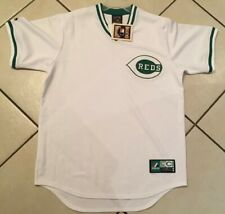 Large New NWT VINTAGE Majestic Cincinnati Reds MLB Baseball Jersey White Green