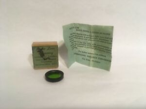 GREEN 5X ARGUS LENS ACCESSORY COLORED FILTER FOR THE ARGUS C MODEL CAMERA W/ BOX