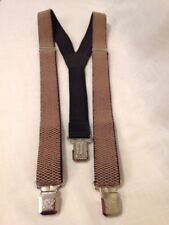 Suspenders Braces Heavy Duty Beige Weave design Color Straps Made in Poland
