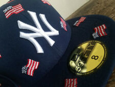 New York Yankees USA Flags 4th July New Era 59FIFTY Fitted Cap sz 8  hat giants
