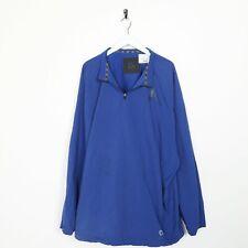 Vintage NIKE Small Logo 1/4 Zip Polyester Sweatshirt Jumper Blue 3XL