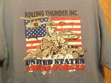 Rolling Thunder INC Graphic US Armed Forces L t shirt Supporter