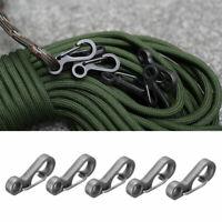 10pcs Mini Split Keychain Key Ring Clips Snap Hook Carabiner Hanging haji B L3F4