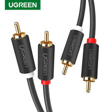 UGREEN 2RCA Male to 2RCA Male Audio Cable Fr Laptop HDTV DVD VCD Amplifier a Lot