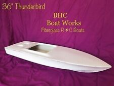 rc fiberglass boat hull kit 36x12