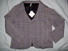 NWT VTG Hanna Andersson 14 P Women Jacket Petite Gray Black Plaid Herringbone