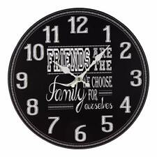 Friends are Family Vintage Style Wall Clock 30cm Gift  W7897