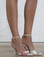 Zimmermann Runway Jeweled Bridal Bridesmaids Wedge Heel Shoes