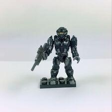 Halo Mega Bloks Construx Black Spartan Recon From UNSC Elephant with Gun