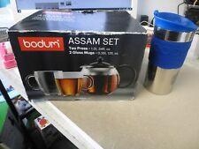 théière 1L + 2 MUG en verre bodum  et une thermos bodum pour thé et café