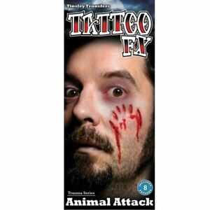 Tinsley Transfers Animal Attack Wound Temporary Tattoo Halloween Costume Makeup