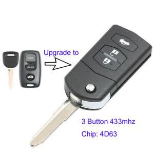 433MHz Modified Remote Control Key Fob 4D63 for Mazda MX5 MK2.5 Visteon 41703