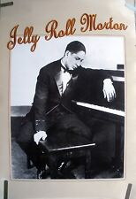 JELLY ROLL MORTON 1985 VINTAGE ORIG JAZZ PIANO MUSIC RECORD STORE PROMO POSTER