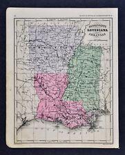 1882 McNally Map Louisiana Mississippi Arkansas New Orleans Jackson Little Rock