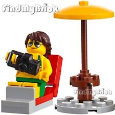 M239 Lego Bikini Top Lady Girl Minifigure with Lawn Chair & Camera 60153 NEW