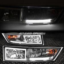 [BUILT-IN LED DRL] PAIR CHROME LENS BUMPER FOG LIGHT FOR 07-14 ESCALADE ESV/EXT