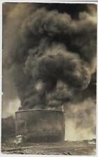 Oil Tank Fire Real Photo Postcard c. 1910