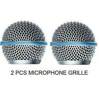 2pcs Mic Microfono Griglia Testa Rete Cover per Shure Beta58A SM58 pgx24 slx24
