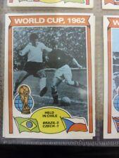 1978/1979 World Cup - Card No.343) 1962, Brazil 3 Czech 1  - Topps Chewing Gum T