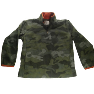 Old Navy Boy Large Sweater Green Long Sleeve Mid Button Front Camouflage 05420