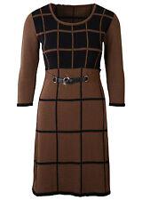 Mini-Damenkleider mit Rundhals-Ausschnitt aus Acryl