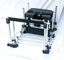 5 Draw Team Specialist Seat Box with footplate & Spray bars  -MATCH/POLE FISHING