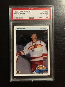 1990 Upper Deck Young Guns Pavel Bure Rookie RC #526 PSA 10