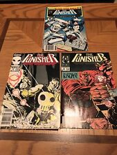 Lot of 3 The Punisher Comic Books Marvel - #2 #15  Annual #1 1988 1987
