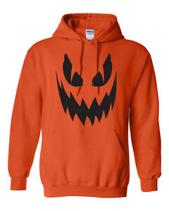 Pumpkin Scary Face Halloween Party Spooky Drinking College  Unisex HOODIE 334
