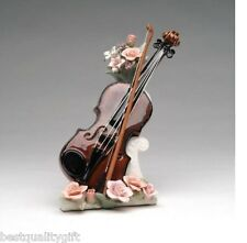 """NEW COLLECTIBLE PORCELAIN VIOLIN""""MY HEART WILL GO ON"""" MUSIC BOX"""