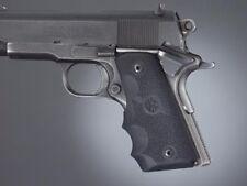 Hogue 1911 Grip-Officer/Compact Recoil Absorbing Rubber Pistol Grip-Black-43000