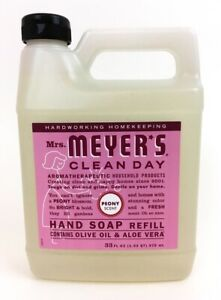 Mrs. Meyers Clean Day Liquid Hand Soap Refill, PEONY Scent 33 fl oz, Fast Ship