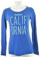 HOLLISTER Womens Top Long Sleeve Size 14 Medium Blue Cotton  FI13