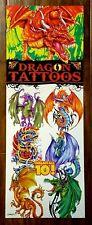 DRAGON Temporary Tattoos by VSI - FULL SET of 10 vending NEW