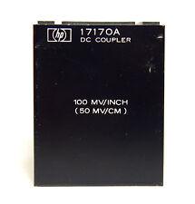 Hewlett Packard HP 17170A DC Coupler Einschub / Plug-In für XT und XY Schreiber