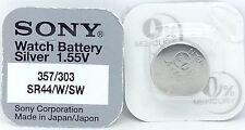 Sony 303/357 (SR44W/SW) 1.55v Silver Oxide Mercury Free Watch Battery - Japan
